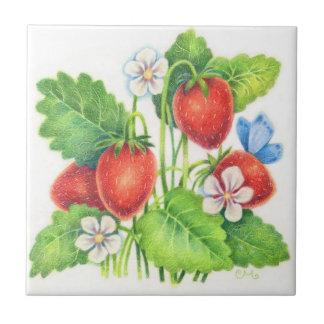 Invitación del verano - teja de la fresa