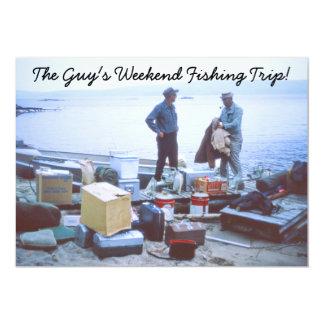 Invitación del viaje de pesca del fin de semana