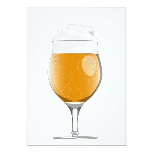 Invitación del vidrio de cerveza