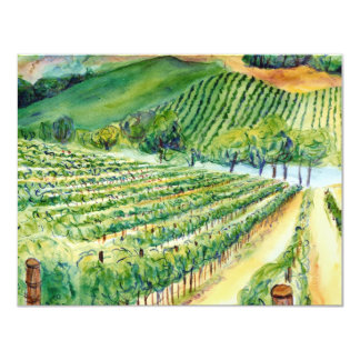 Invitación del viñedo de California
