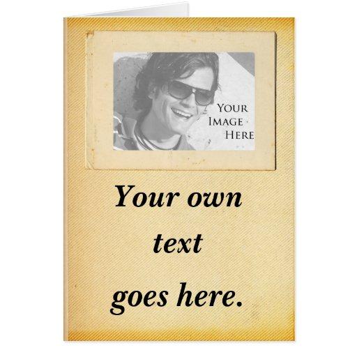Invitación del vintage con imagen tarjetas