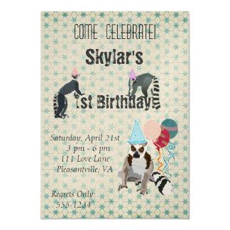 Invitación del vintage del cumpleaños de los