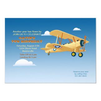 Invitación del vuelo del vintage invitación 12,7 x 17,8 cm