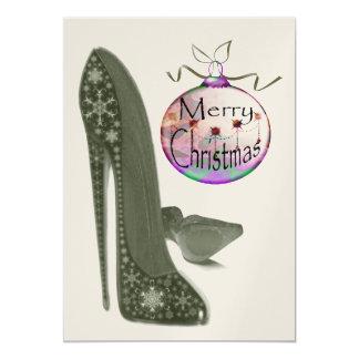 Invitación del zapato del estilete del navidad
