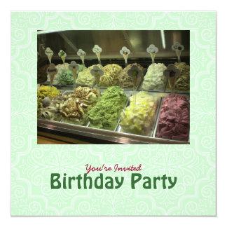 Invitación deliciosa del cumpleaños de Gelato