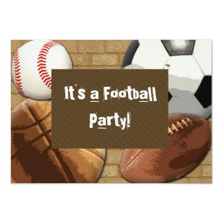 """Invitación, deportes fiesta, cumpleaños o invitación 5"""" x 7"""""""