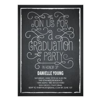 Invitación descarada de la graduación del tablero