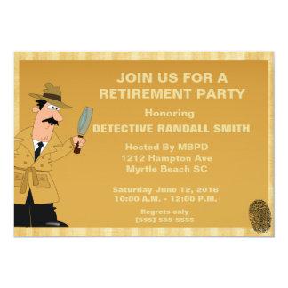 Invitación detective del fiesta de retiro