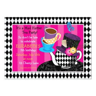 Invitación-diamante enojado del cumpleaños de la invitación 12,7 x 17,8 cm