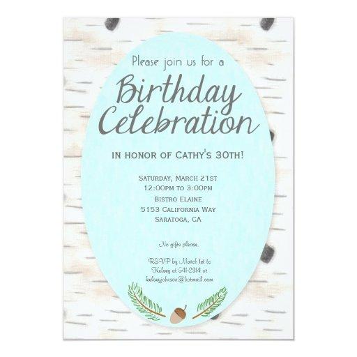 Invitación dibujada mano del cumpleaños del