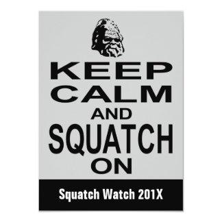 Invitación divertida de la caza de Squatchin