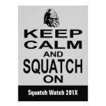 Invitación divertida de la caza de Squatchin Bigfo