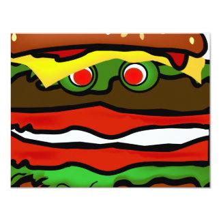 Invitación divertida de la hamburguesa