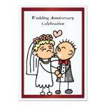 Invitación divertida del aniversario de boda invitación 12,7 x 17,8 cm