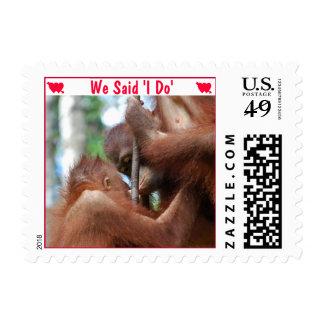 Invitación divertida del boda hago sello postal
