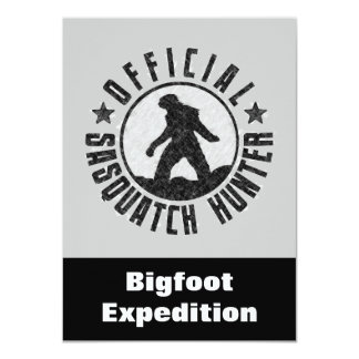 Invitación divertida del cazador de Sasquatch a