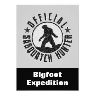 Invitación divertida del cazador de Sasquatch a en