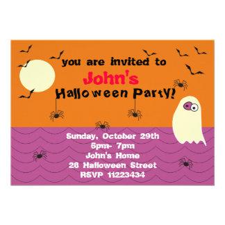 Invitación divertida del fiesta de Halloween del f