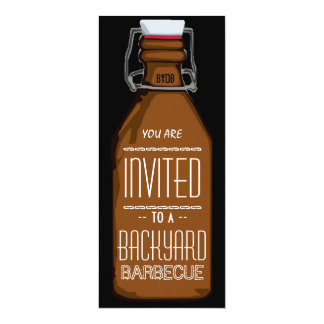 Invitación divertida del fiesta del Bbq de la