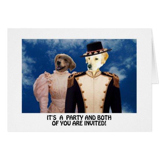 Invitación divertida del fiesta del golden tarjeta de felicitación