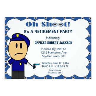 Invitación divertida del retiro del oficial de