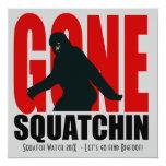 Invitación divertida ida de la caza de Squatchin Invitación 13,3 Cm X 13,3cm