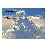 Invitación divina de las nubes invitación 12,7 x 17,8 cm