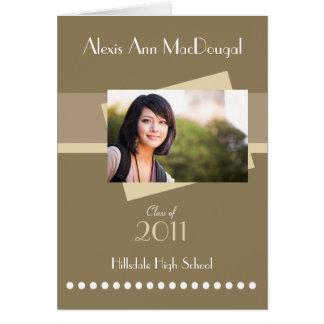 Invitación doblada raya intrépida de la graduación tarjeta de felicitación