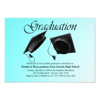 Invitación doble de la graduación