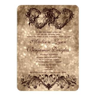 Invitación doble del boda de Champán de los