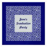 Invitación dominante del fiesta del graduado de lo