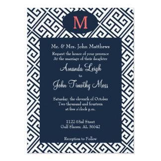 Invitación dominante griega del boda