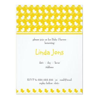 invitación ducky amarilla de la fiesta de