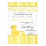 invitación Ducky de goma amarilla de la fiesta de