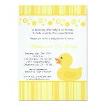 invitación Ducky de goma amarilla de la fiesta de Invitación 12,7 X 17,8 Cm