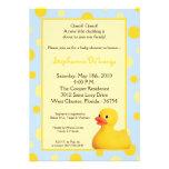 invitación Ducky de goma azul amarilla de la fiest