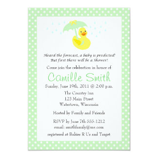 Invitación Ducky de goma linda de la fiesta de