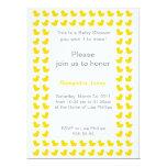 Invitación Ducky de goma para el amarillo de la Invitación 16,5 X 22,2 Cm