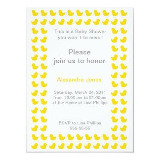 Invitación Ducky de goma para el amarillo de la