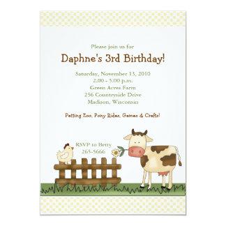 Invitación dulce casera 5 x 7 del cumpleaños de la