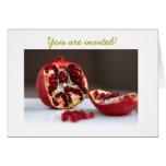 Invitación dulce de la colección de la granada de  felicitacion