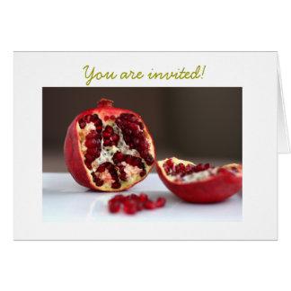 Invitación dulce de la colección de la granada de tarjeta de felicitación