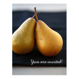 Invitación dulce de la colección de la pera tarjeta postal