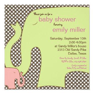 Invitación dulce de la ducha de la niña del