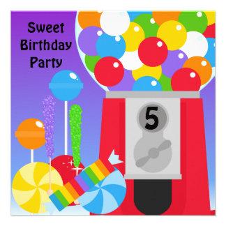 Invitación dulce de la fiesta de cumpleaños
