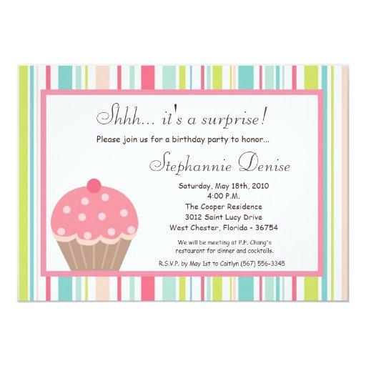 invitación dulce de la fiesta de cumpleaños de la