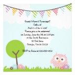 Invitación dulce de la fiesta de cumpleaños del bú