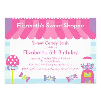 Invitación dulce de la fiesta de cumpleaños del ca