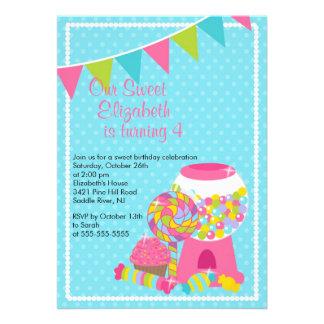 Invitación dulce de la fiesta de cumpleaños del ch