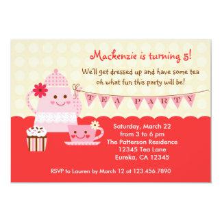 Invitación dulce de la fiesta de cumpleaños del té
